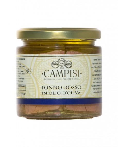 Tonno Rosso in Olio di Oliva - vaso vetro 220 g - Campisi