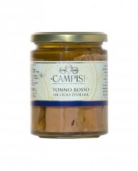 Tonno Rosso in Olio di Oliva - vaso vetro 300 g - Campisi