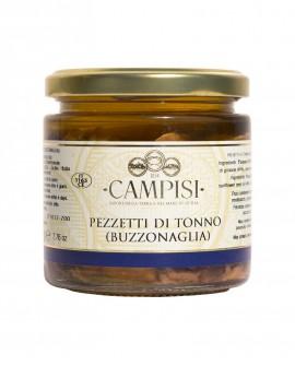 Buzzonaglia Pezzetti di Tonno in Olio di Oliva - vaso vetro 220 g - Campisi