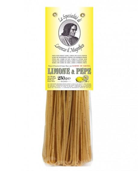 Limone E Pepe Linguine Germe di Grano Lorenzo il Magnifico 250 gr Pasta Aromatizzata - Antico Pastificio Morelli
