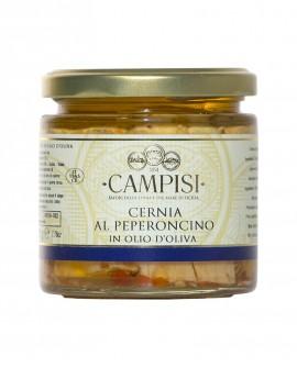 Cernia con Peperoncino in Olio di Oliva - vaso vetro 220 g - Campisi