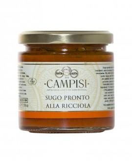 Sugo pronto alla Ricciola pomodoro ciliegino - vaso vetro 220 g - Campisi