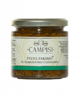 Pesto Pakino di Pomodoro Ciliegino - vaso vetro 220 g - Campisi
