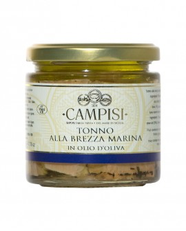 Tonno alla Brezza Marina in Olio di Oliva - vaso vetro 220 g - Campisi