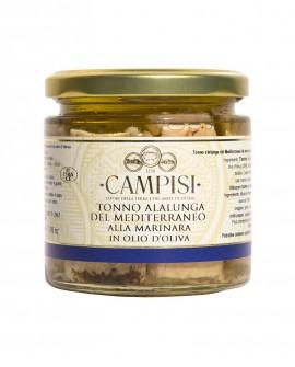 Tonno Alalunga del Mediterraneo alla Marinara in Olio di Oliva - vaso vetro 220 g - Campisi