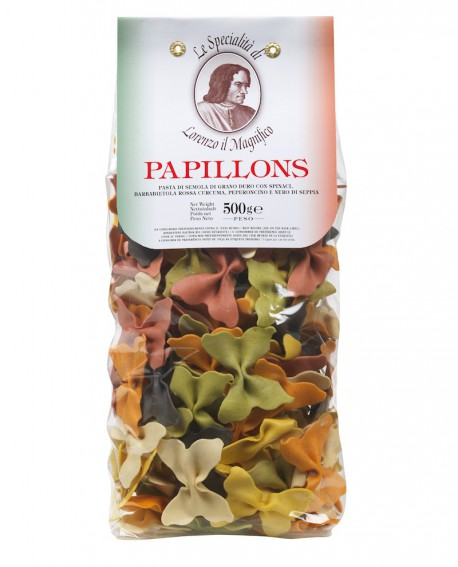 6 Sapori Papillons  Lorenzo il Magnifico 500 gr Multicolore - Antico Pastificio Morelli