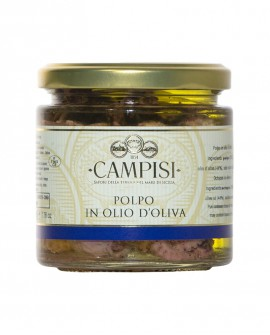 Polpo in Olio di Oliva - vaso vetro 220 g - Campisi