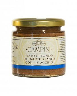 Pesto di Tonno del Mediterraneo con Pistacchio - vaso vetro 220g - Campisi