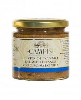 Pesto di Tonno del Mediterraneo con Curcuma e Cipolla - vaso vetro 220g - Campisi