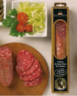 Salame di Suino Nero di Calabria 700 gr Tenuta Corone - Salumificio Madeo