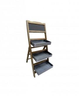 ESPOSITORE LEGNO con Ardesia 3 cesti  lungh. 46 x prof. 50 x alt. 109 - RET Mobili in legno