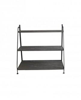 SCAFFALE FERRO FORGIATO  lungh. 100 x prof. 55 x alt. 80 cm + 3 ripiani in legno - RET Mobili in legno
