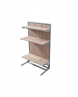 STRUTTURA GONDOLA HÉRITAGE MONOFACCIALE  lungh. 90 x prof. 45 x alt. 145 cm - RET Mobili in legno