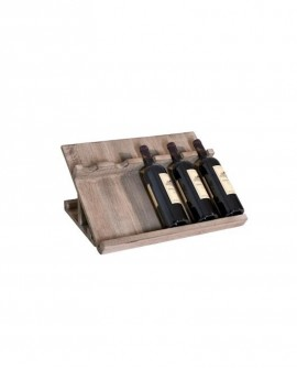 PORTABOTTIGLIE 5 BOTTIGLIE INCLINATE  lungh. 50 x prof. 35 x alt. 27 cm - RET Mobili in legno