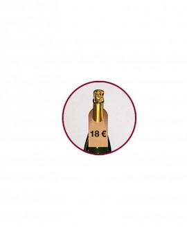 ETICHETTA COLLO BOTTIGLIA e prezzo in cartone - PACK da 100   lungh. 5.5 x prof. 0.025 x alt. 11.8 cm - RET