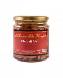Filetti di alici di Cetara - in vetro da 300 g - Le Gemme del Vesuvio