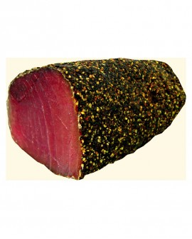 Tonno bresaola filetto pepe nero indiano stagionato oltre 5 mesi - 1,6 kg - Salumi di Mare