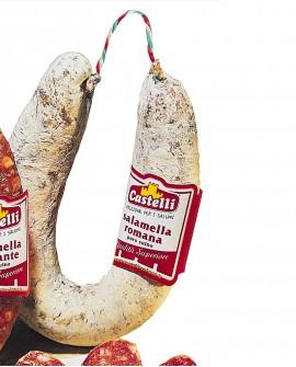 Salamella Romana piccante puro suino - 450 g - Castelli Salumi