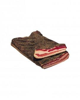 Pancetta stagionata steccata - Pepe - 2,75 kg - Castelli Salumi