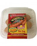 Wustelli Hot Dog puro suino Vaschetta - freschi con budello naturale - 300 g - Castelli Salumi