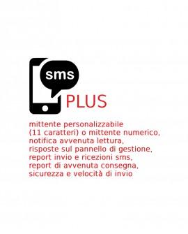 1000 SMS PLUS da inviare, piattaforma Gustox SMS