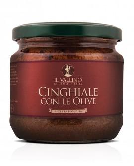 Cinghiale con le Olive 330 g - Il Vallino