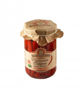 Peperoncini calabresi Lunghi Piccanti - 280 g - Delizie di Calabria