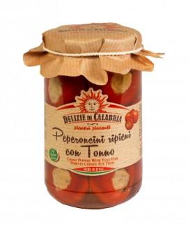 Peperoncini ripieni con Alici e Capperi - 920 g - Delizie di Calabria