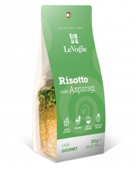 Risotto con Asparagi senza glutine - 215g linea gourmet - Le Voglie - Primavera Foods
