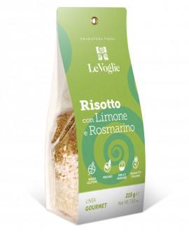 Risotto con Limone e Rosmarino senza glutine - 215g linea gourmet - Le Voglie - Primavera Foods