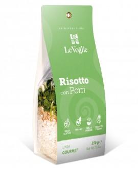 Risotto con Porri senza glutine - 215g linea gourmet - Le Voglie - Primavera Foods