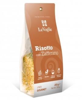 Risotto con Zafferano senza glutine - 215g linea gourmet - Le Voglie - Primavera Foods