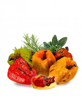 Peperoni grigliati senza pelle - 2000 gr - Agrifood Toscana