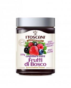 Confettura extra di frutti di bosco senza glutine - 320 gr - Agrifood Toscana