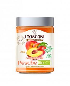 Confettura extra di pesche BIO senza glutine - 320 gr - Agrifood Toscana