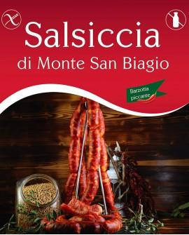 Salsiccia di Monte San Biagio Barzotta Catenella Piccante 500g sottovuoto - Salumi Grufà