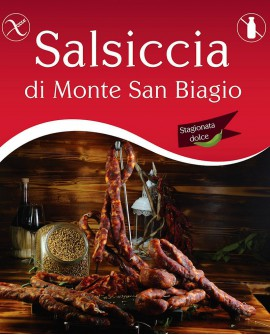 Salsiccia di Monte San Biagio Stagionata Dolce 500g stagionatura 1 mese - Salumi Grufà