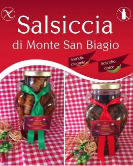 Salsiccia di Monte San Biagio Stagionata Sottolio 280g al pezzo - stagionatura 1 mese - Salumi Grufà