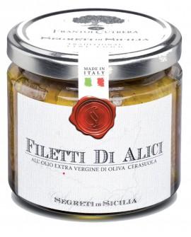 Filetti di Alici sottolio Extra Vergine di Oliva Cerasuola - vasetto di vetro 100 - 90 g - Frantoi Cutrera