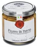 Filetti di Tonno pinna gialla - vasetto di vetro 212 - 190 g - Frantoi Cutrera Segreti di Sicilia
