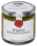 Pesto di Mandorla di Avola e Pistacchio Siciliano - vasetto di vetro 212 - 190 g - Frantoi Cutrera Segreti di Sicilia