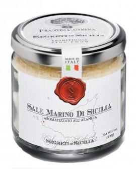 Sale Marino di Sicilia aromatizzato all'Arancia - vasetto di vetro 212 - 200 g - Frantoi Cutrera Segreti di Sicilia