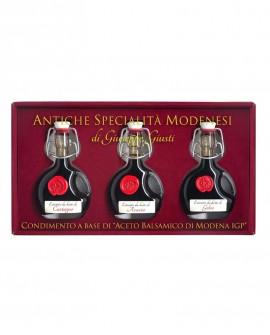 Antiche Specialità Modenesi - Condimento Tris Basquiese - astuccio in cartone - 40mlx3 - Giuseppe Giusti Modena