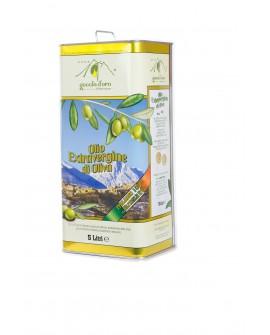 Olio Extra Vergine di Oliva - 100% Italiano - Lattina 5 lt - Goccia d'Oro d'Abruzzo