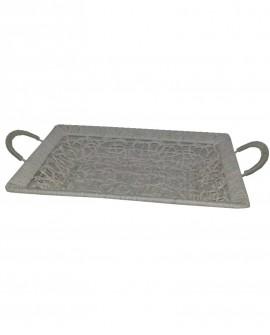 Vassoio rettangolare in ferro grovigli con manici 40x30x5 - Cesteria M.B. Service