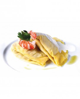 Crespelle zucchine e gamberetti - 1 kg - pasta surgelata - CasadiPasta
