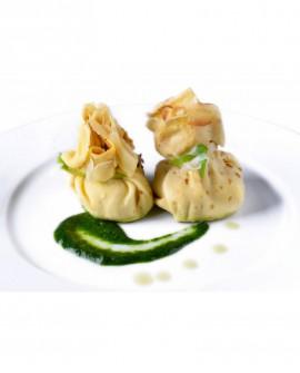 Saccottino di Crespella melanzane provola - 1 kg - pasta surgelata - CasadiPasta