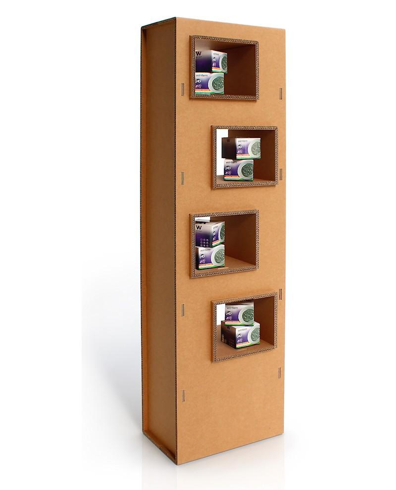 Espositori porola b nardi mobili in cartone pres di gustox b2b - Mobili in cartone ...