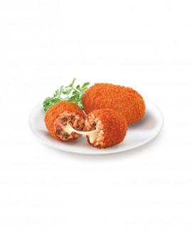 Supplì di riso alla Romana con carne e mozzarella 100g surgelato - cartone 6 kg - Frittoking