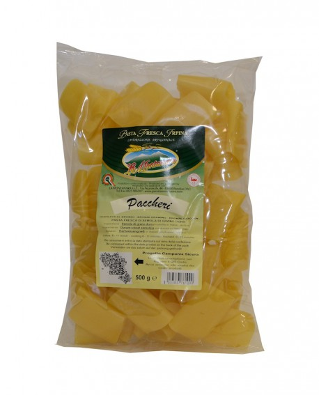 Paccheri La Montanara - pasta fresca trafilatura in bronzo
